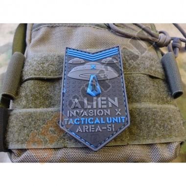 Patch 3D ALIEN INVASION X-Files Area-51 Blue (JTG.AIXF.BLUE JTG)
