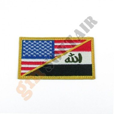 Patch US&IRAQ Military Maneuvers a Colori Ricamata