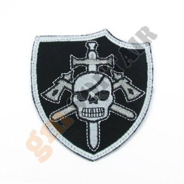 Patch Scudetto Seal Devgru Nera Ricamata