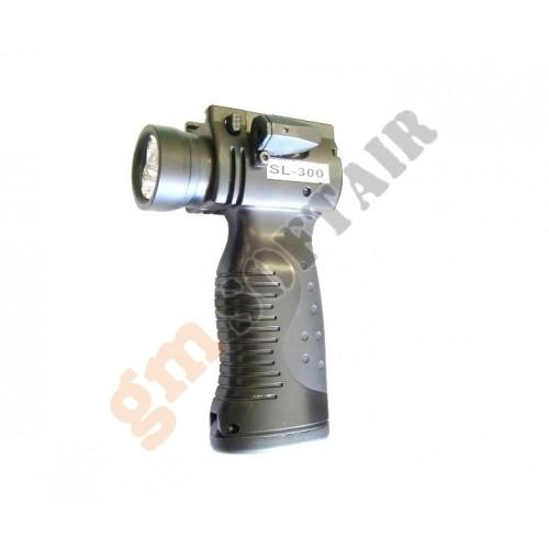 Vertical Grip con Torcia e Laser