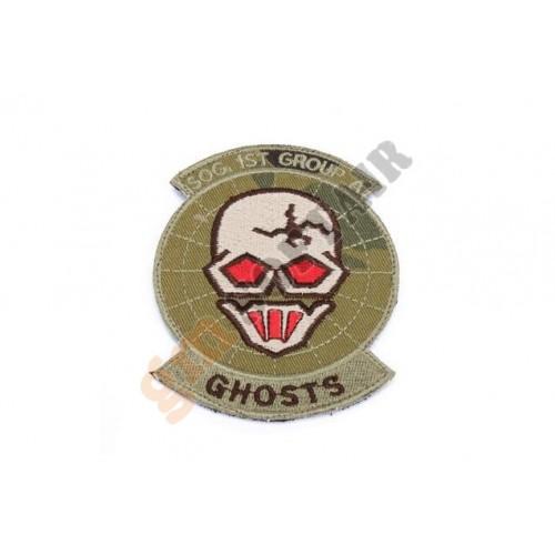 Patch Ghosts SOG Team Multicam Ricamata