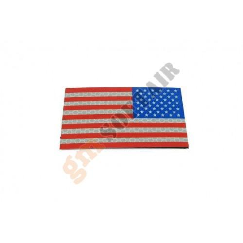 Bandiera USA DX a Colori Plastificata Large