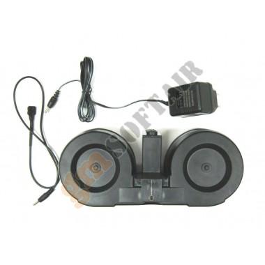 Caricatore Elettrico Doppio Drum M4