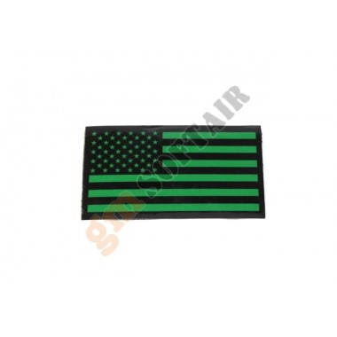 Patch USA SX Dark Green Plastificata Large