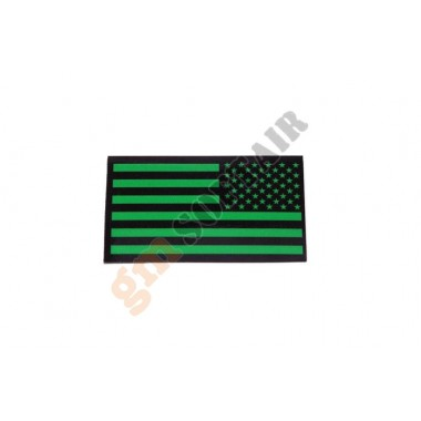 Patch USA DX Dark Green Plastificata Large