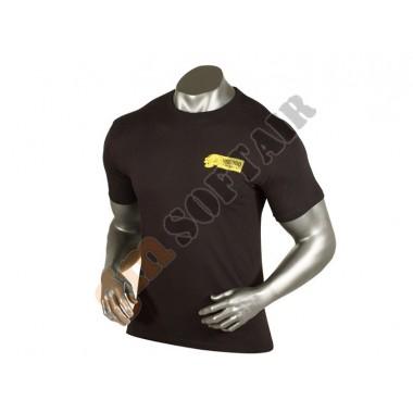 T-Shirt Nera logo Giallo tg.L