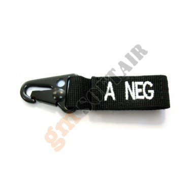 Blood Type Tags A- Black/White