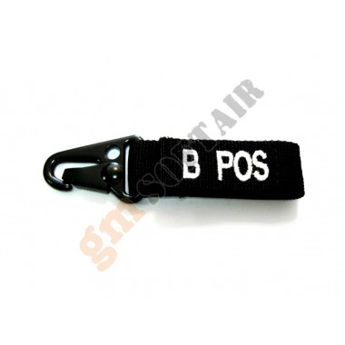 Blood Type Tags B+ Black/White