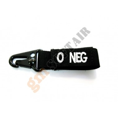 Blood Type Tags 0- Black/White