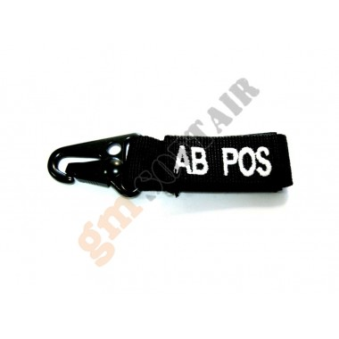 Blood Type Tags AB+ Black/White