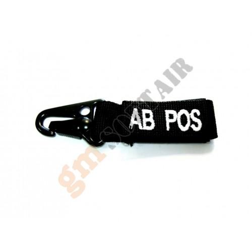 Blood Type Tags AB+ Black/White