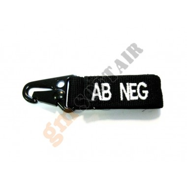Blood Type Tags AB- Black/White