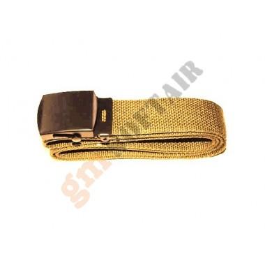 Cintura con Fibbia in Metallo Sabbia (101 INC)