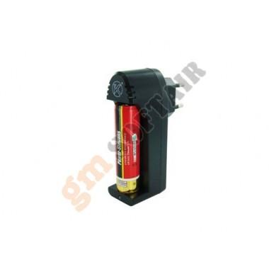 Carica Batterie con 2 Batterie LIR18650