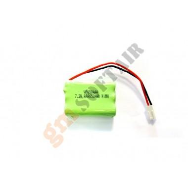 Pacco Batterie NiMh 7.2x650 AAA