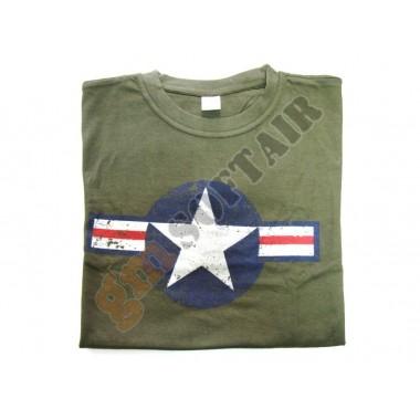 T-Shirt WWII USAF Verde tg. M