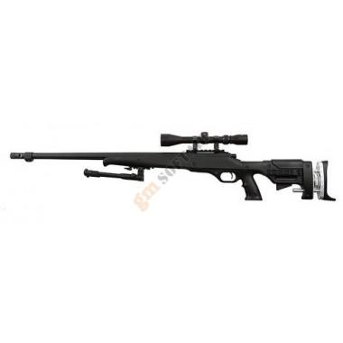 MB12 Sniper Rifle Nero con Ottica e Bipiede