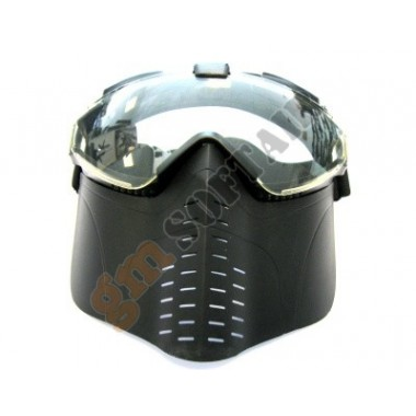 Maschera con Ventola Nera (M001B GOLDEN ARROWS)