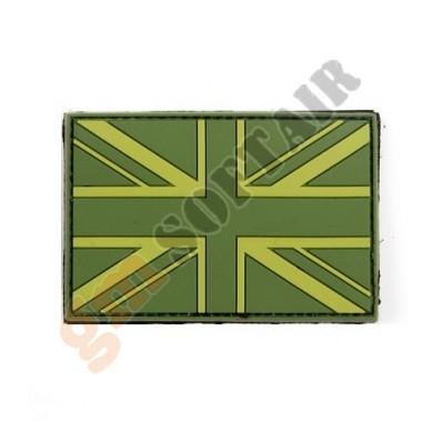 Bandiera UK Verde Gommata PVC